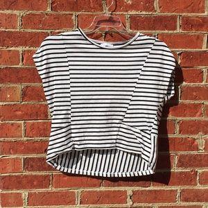 Zara Trafaluc Striped Oversized T-Shirt
